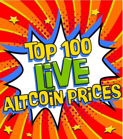 Top 100 Live Altcoin Prices