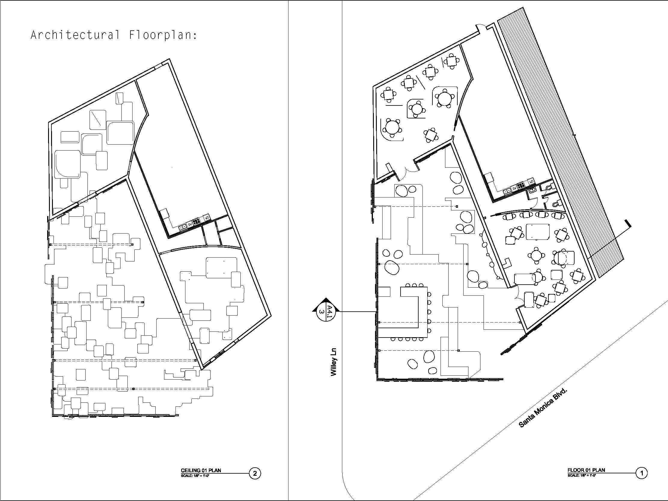 Floor plan + ceiling plan