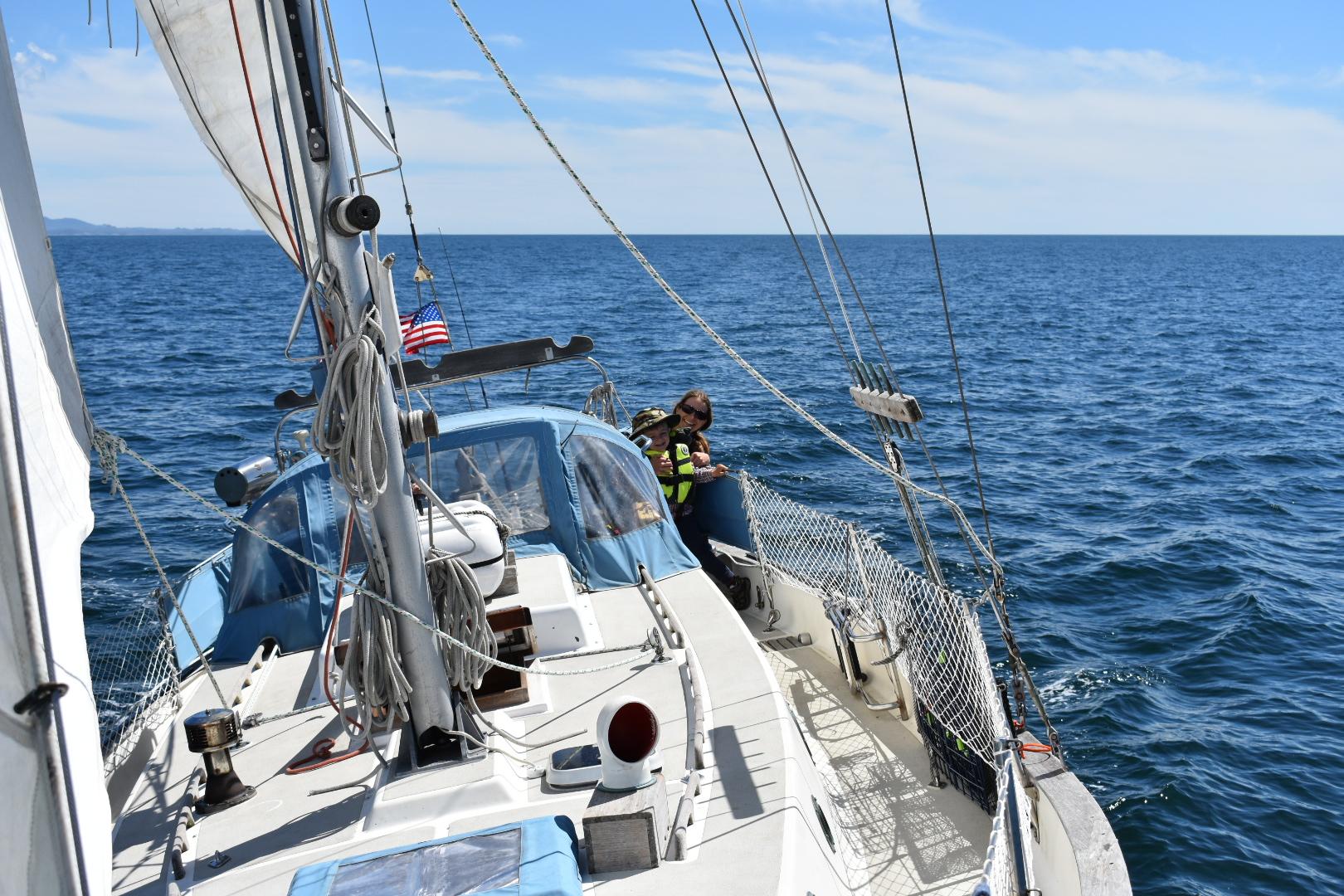Sailing in the sunshine.