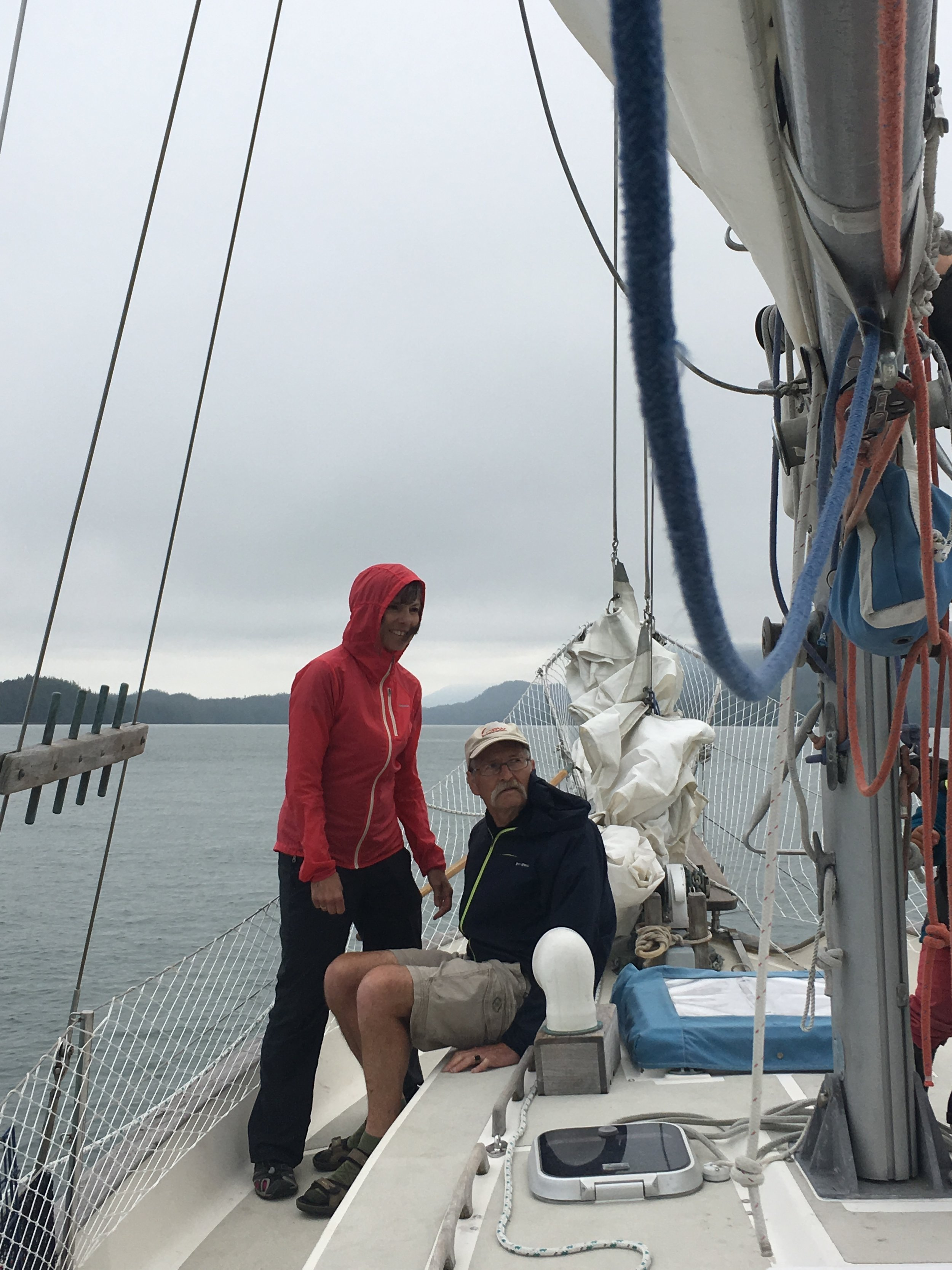 Sailing with my parents.