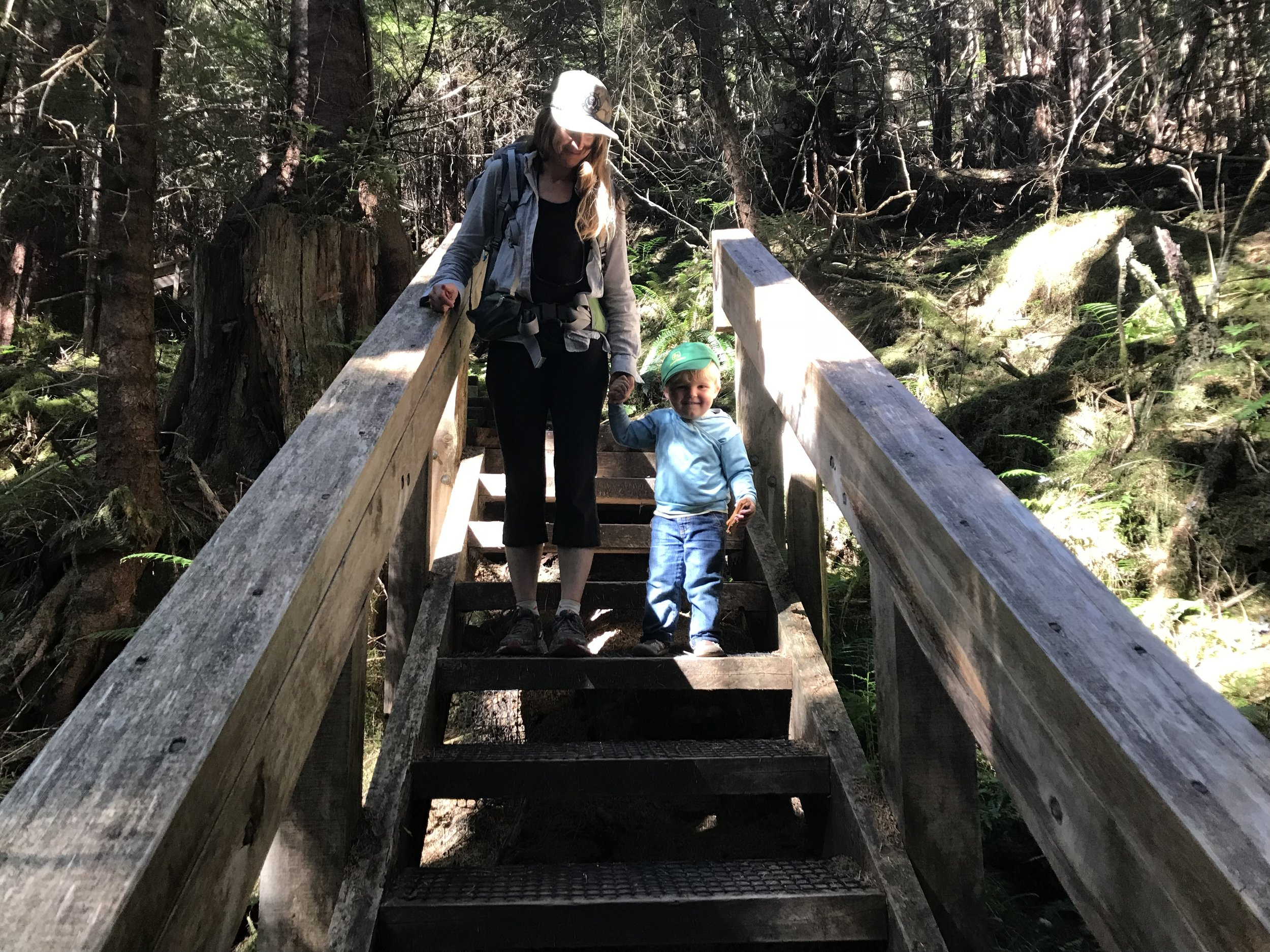 Dawson's special. Jumping down each of 345 steps.