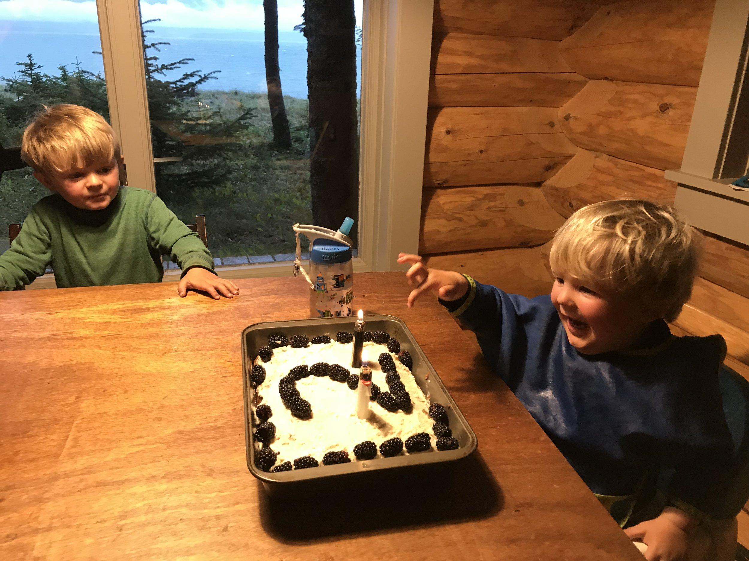 Happy birthday Dawson! (we forgot the candles)