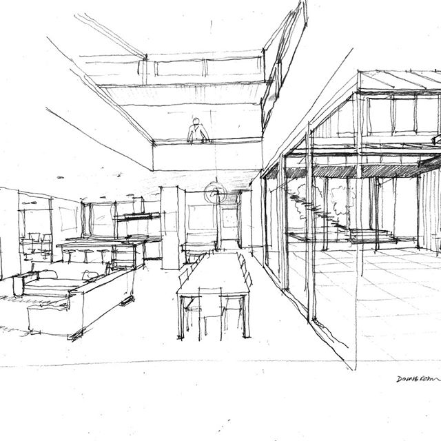 Afternoon Sketches  #slessorarchitects #architecturenz #handdrawing #interor