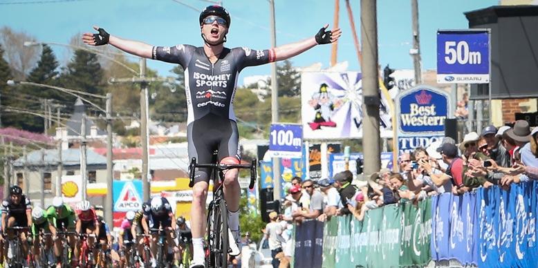 Nathan Elliott winning the 2017 Melbourne-Warrnambool