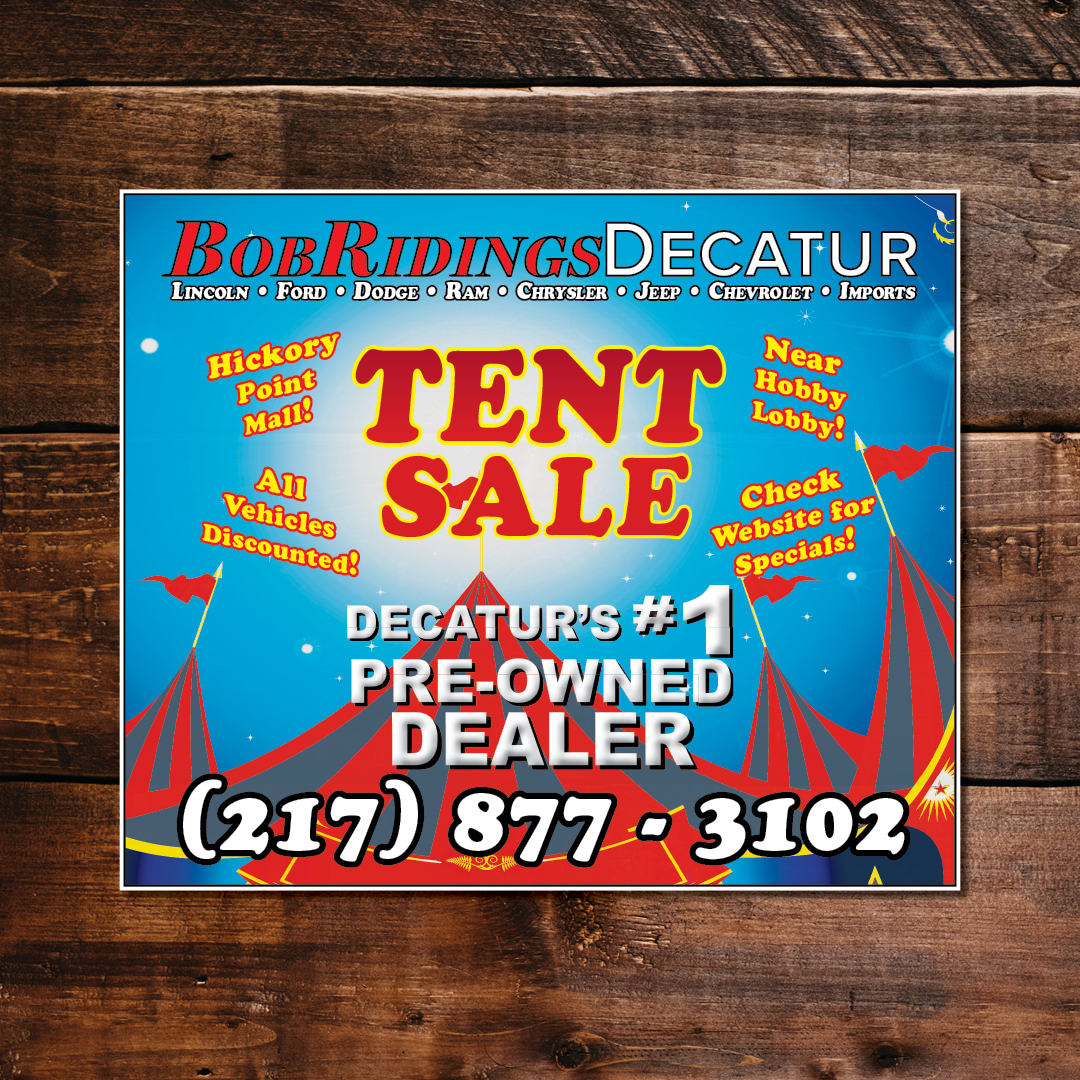 Tent Sale Google Display Ad