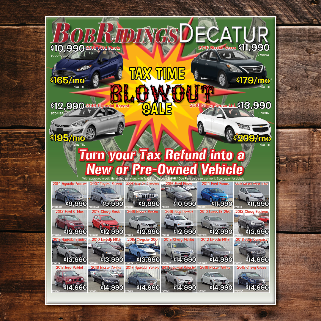 Tax Time Blowout Every Door Direct Mailer