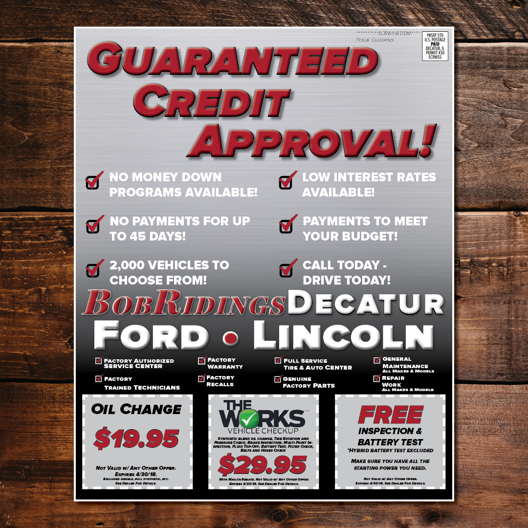 Guaranteed Credit Approval Every Door Direct Mailer