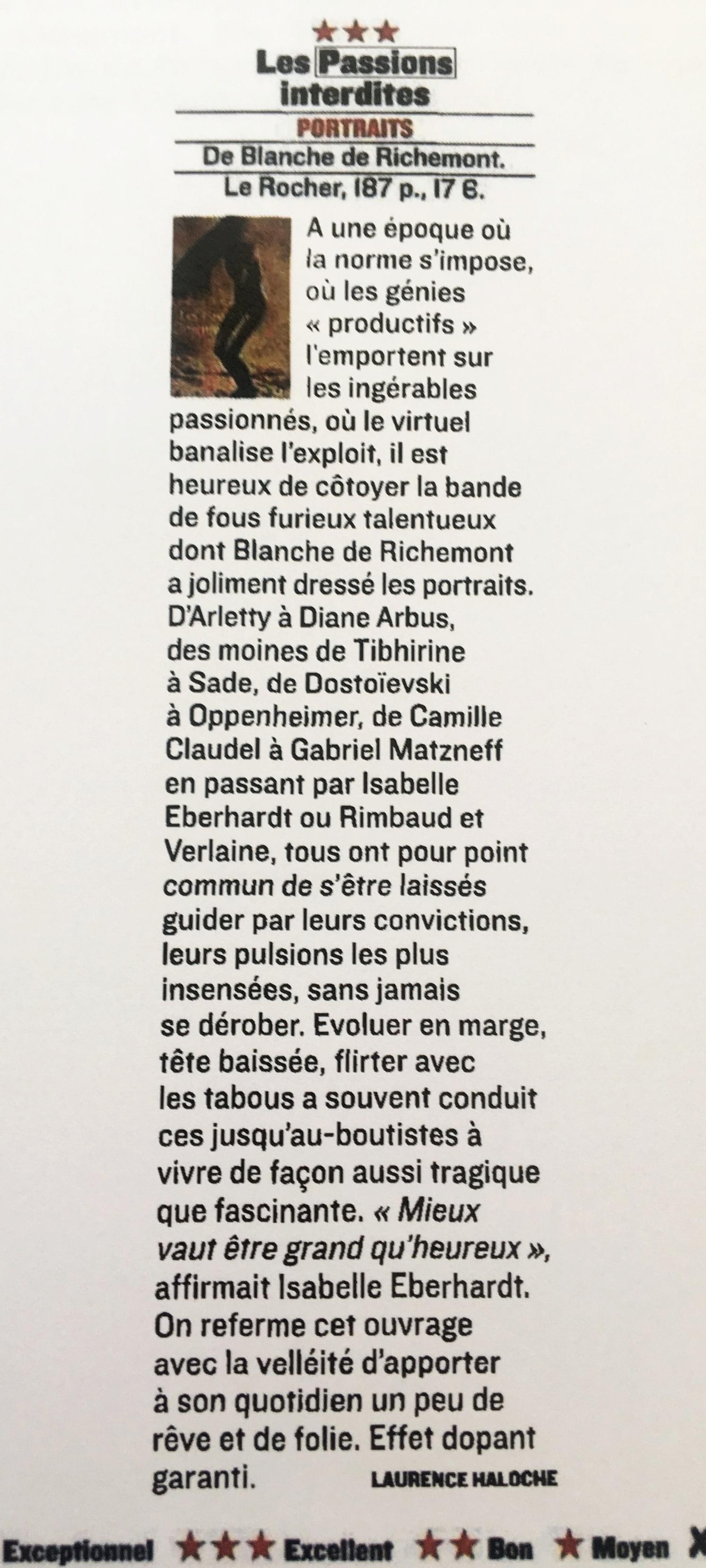 Passions interdites. Figaro Magazine.Juin 2009