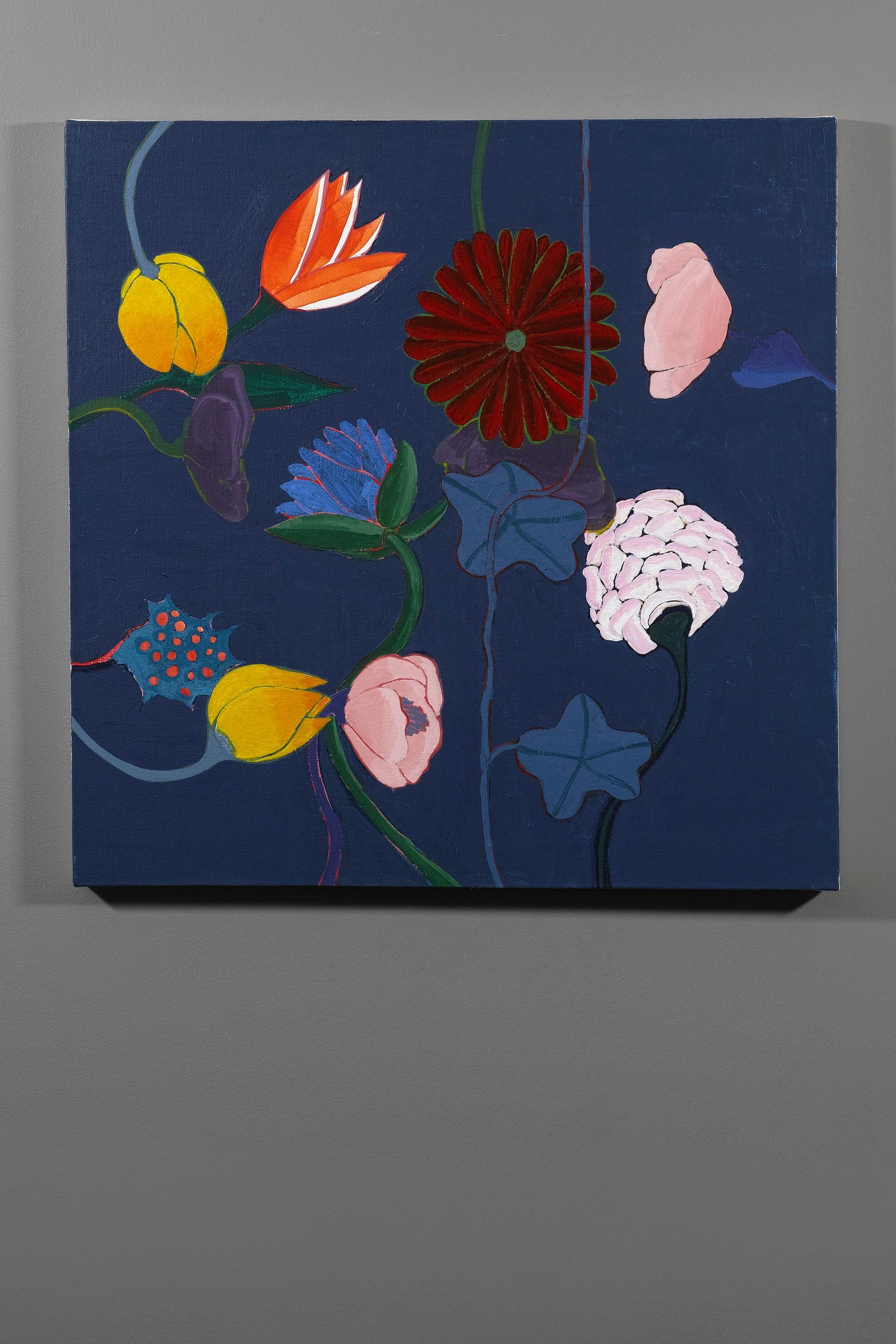 """Haeckel's Index , acrylic and acrylic gouache on canvas, 24x24"""""""