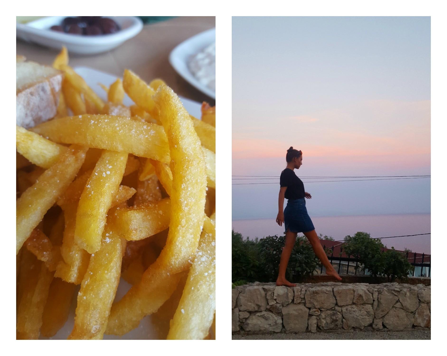Finns det något godare än salta pommes vid stranden?