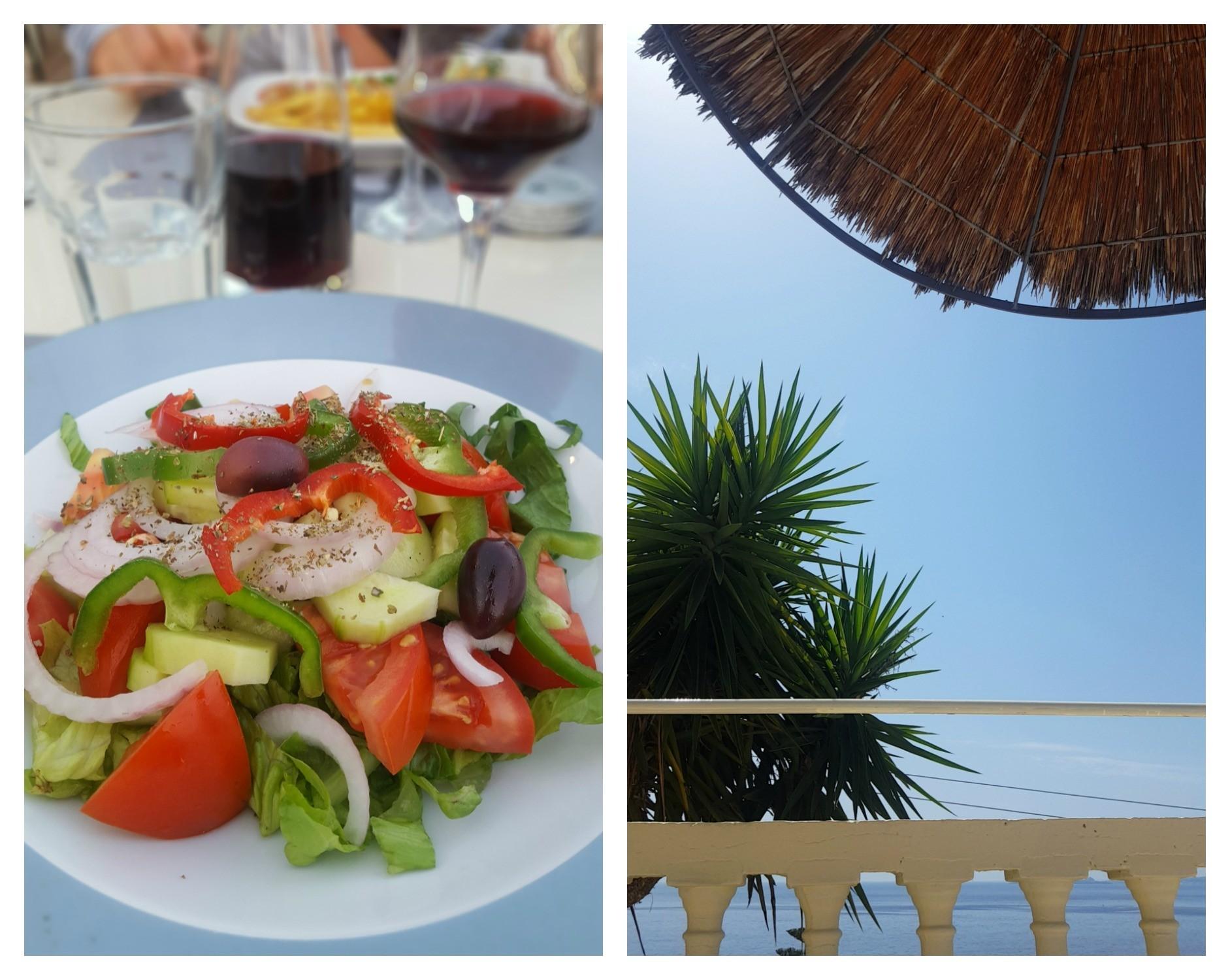 Mer friterad auberginer (med ovegansk tzatziki som pojkvännerna fick sno) och än mer grillade grönsaker!