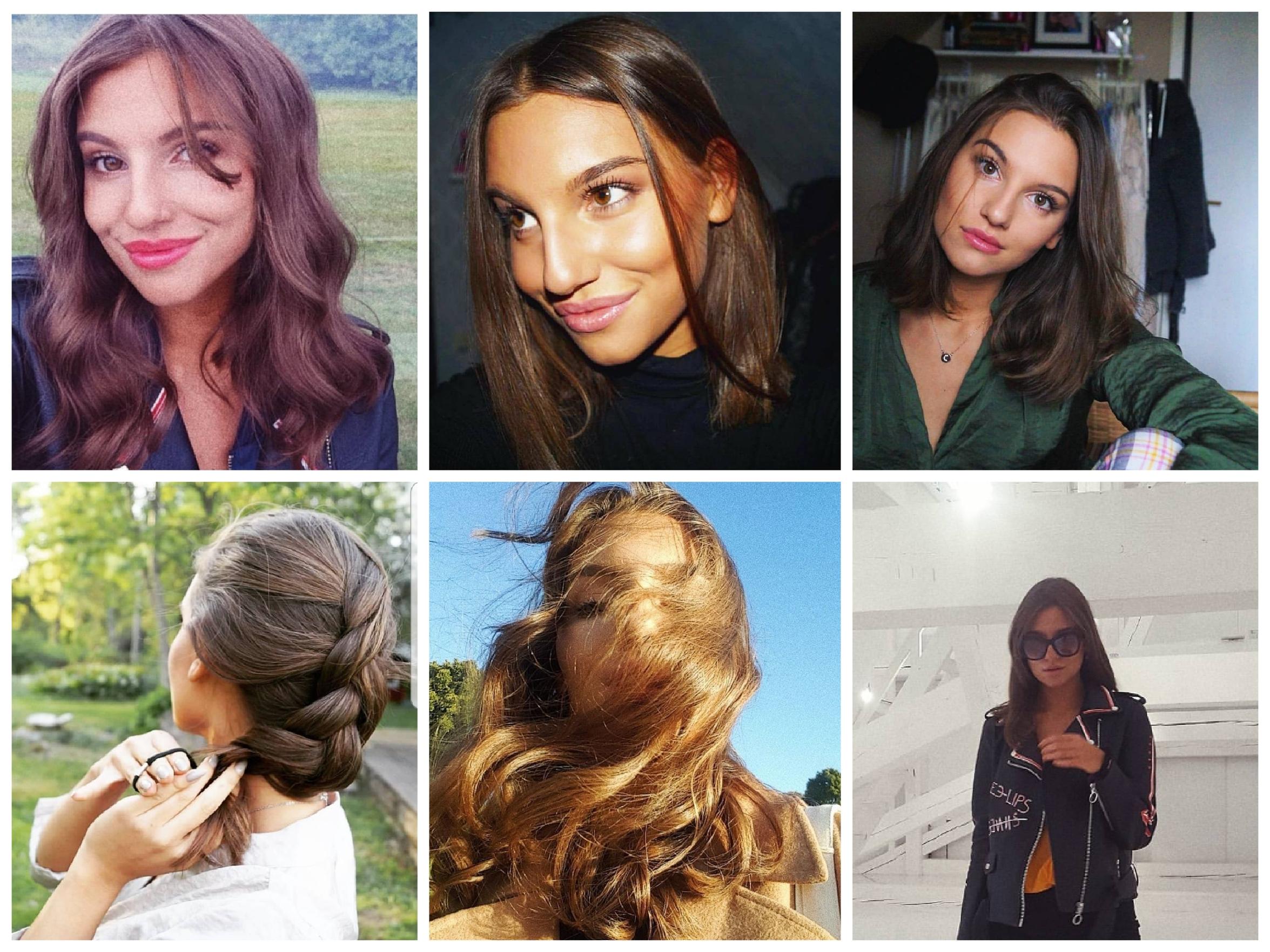 Amelia: Håller håret kring axellängd och gillar att ha det både lockat och rakt!