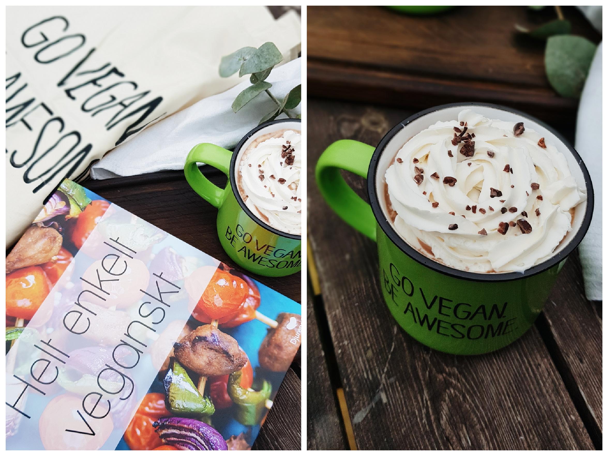 Psst! Dessa snygga koppar, den härliga tygkassen med samma text och en kokbok med fantastiskt enkla veganska recept kan du vinna på vår instagram just nu! Så spana in vårt flöde och leta upp dessa bilder!