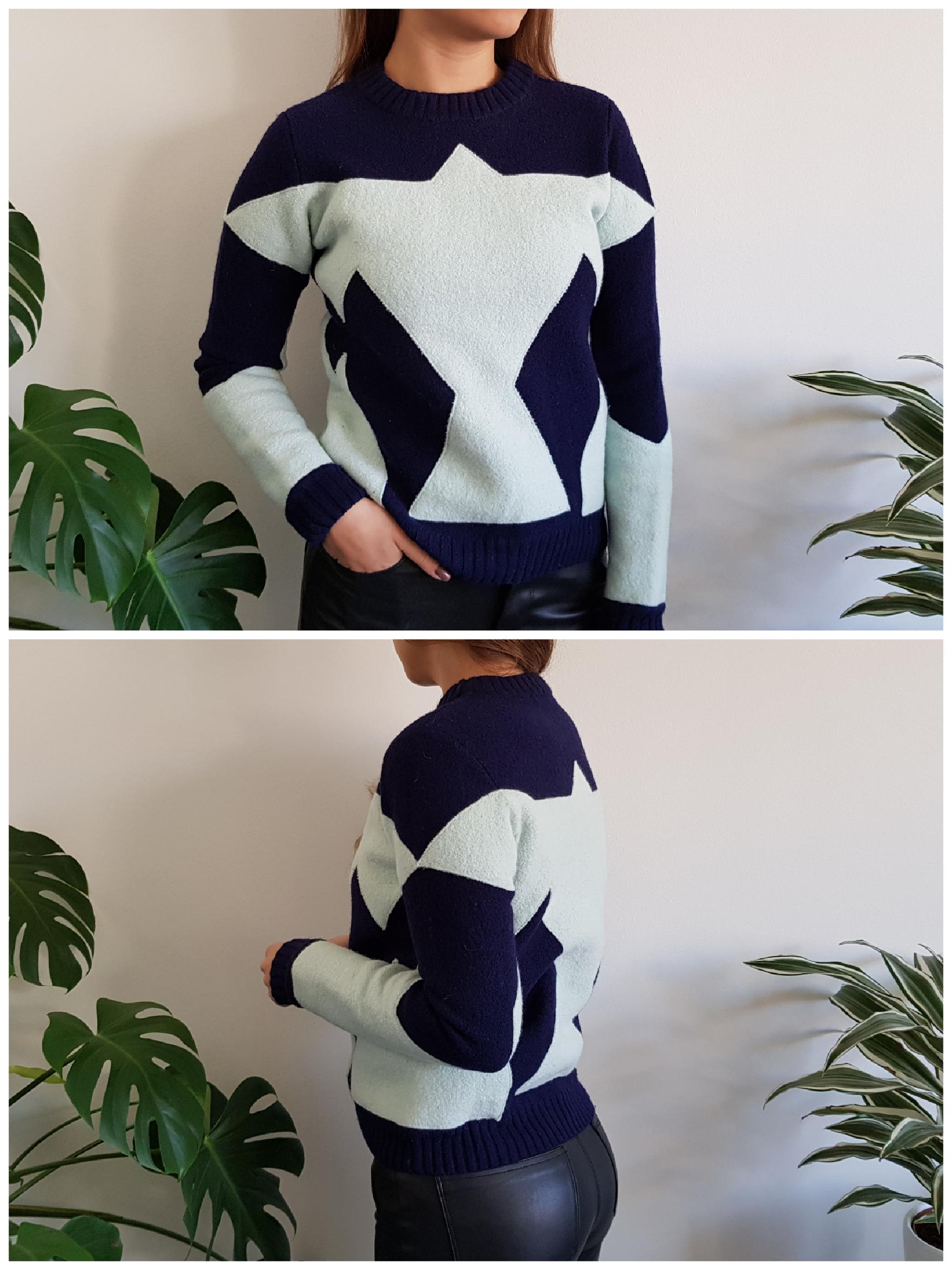 3e6488a7777c Ullkrympt tröja från & Other Stories i storlek S. Den har tvättats fel så  den är väligt kompakt, men fint skick och livliga färger i övrigt. 100% Ull.