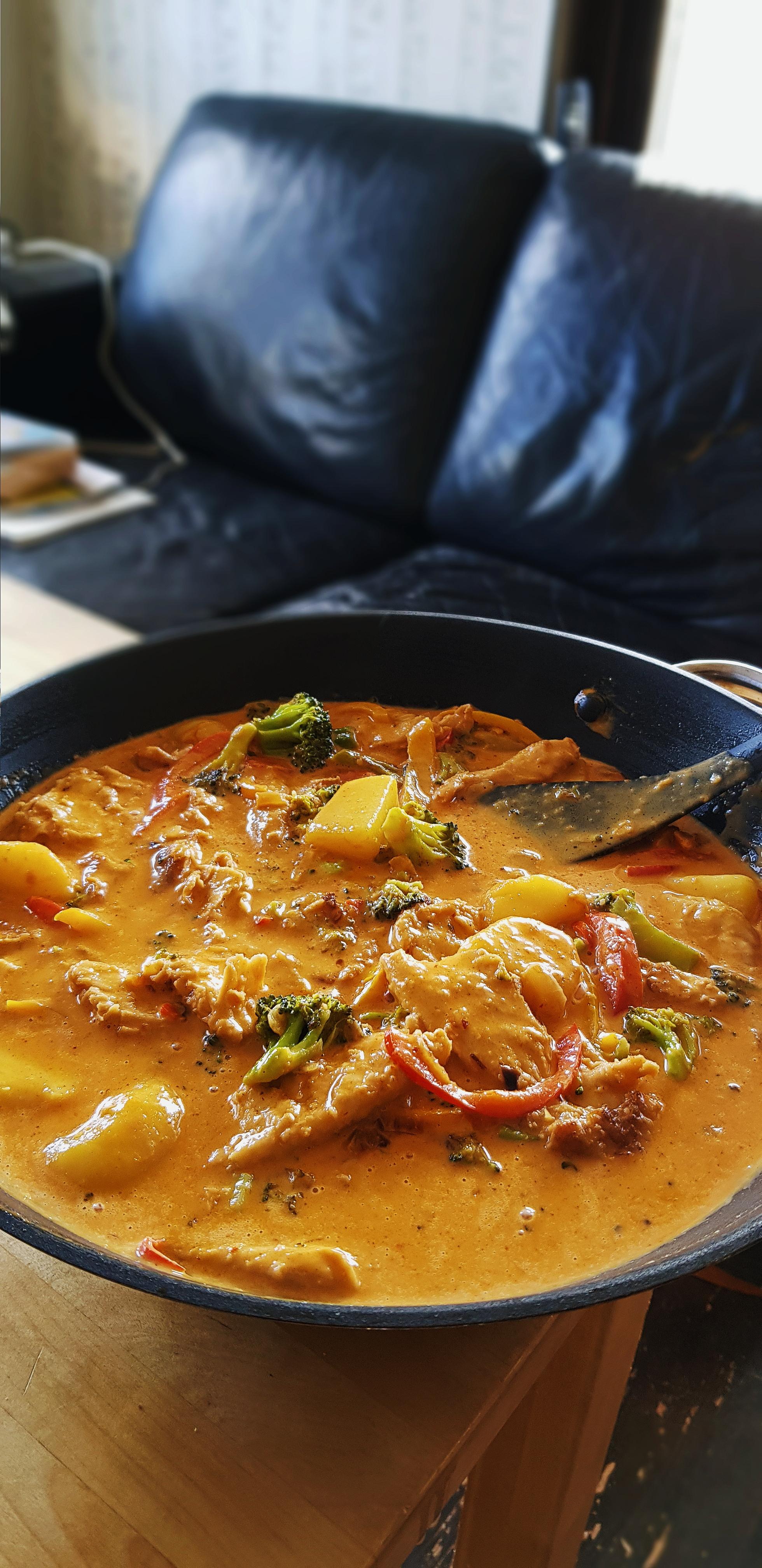 Röd curry - Ihopkokad och klar!