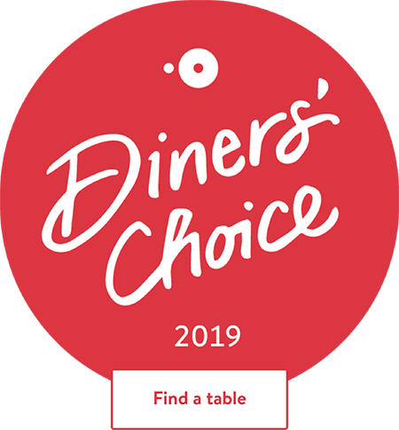 - Open Table Diners' Choice Award Winner2011, 2012, 2013, 2014, 2015, 2016, 2017, 2018, and 2019!
