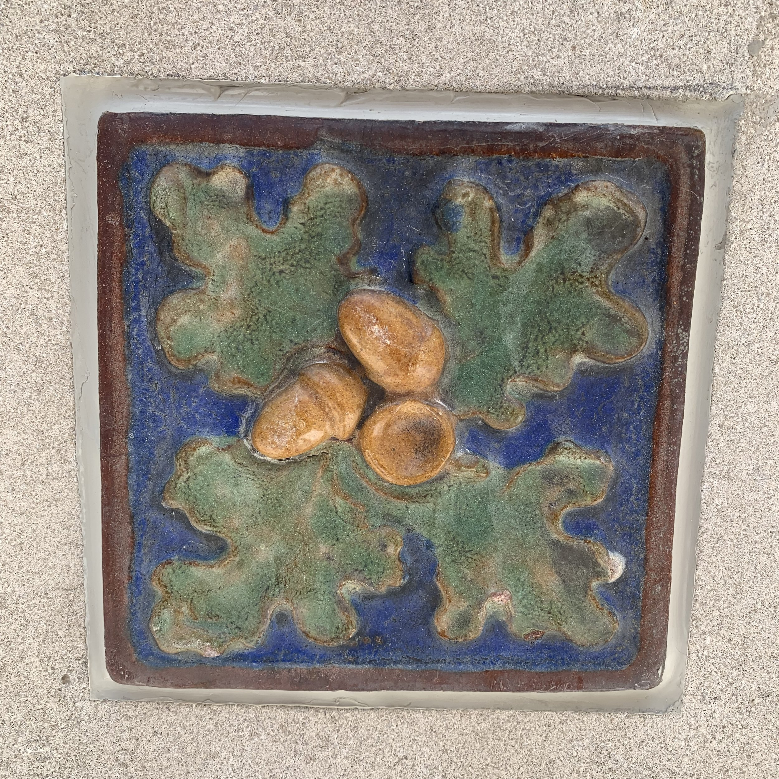 Salvaged tiles from historic Garfield Park planters
