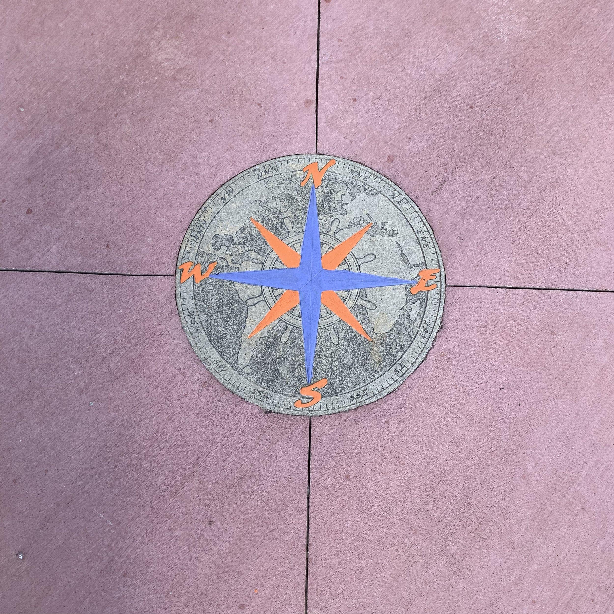 Reclaimed compass from Garfield Park