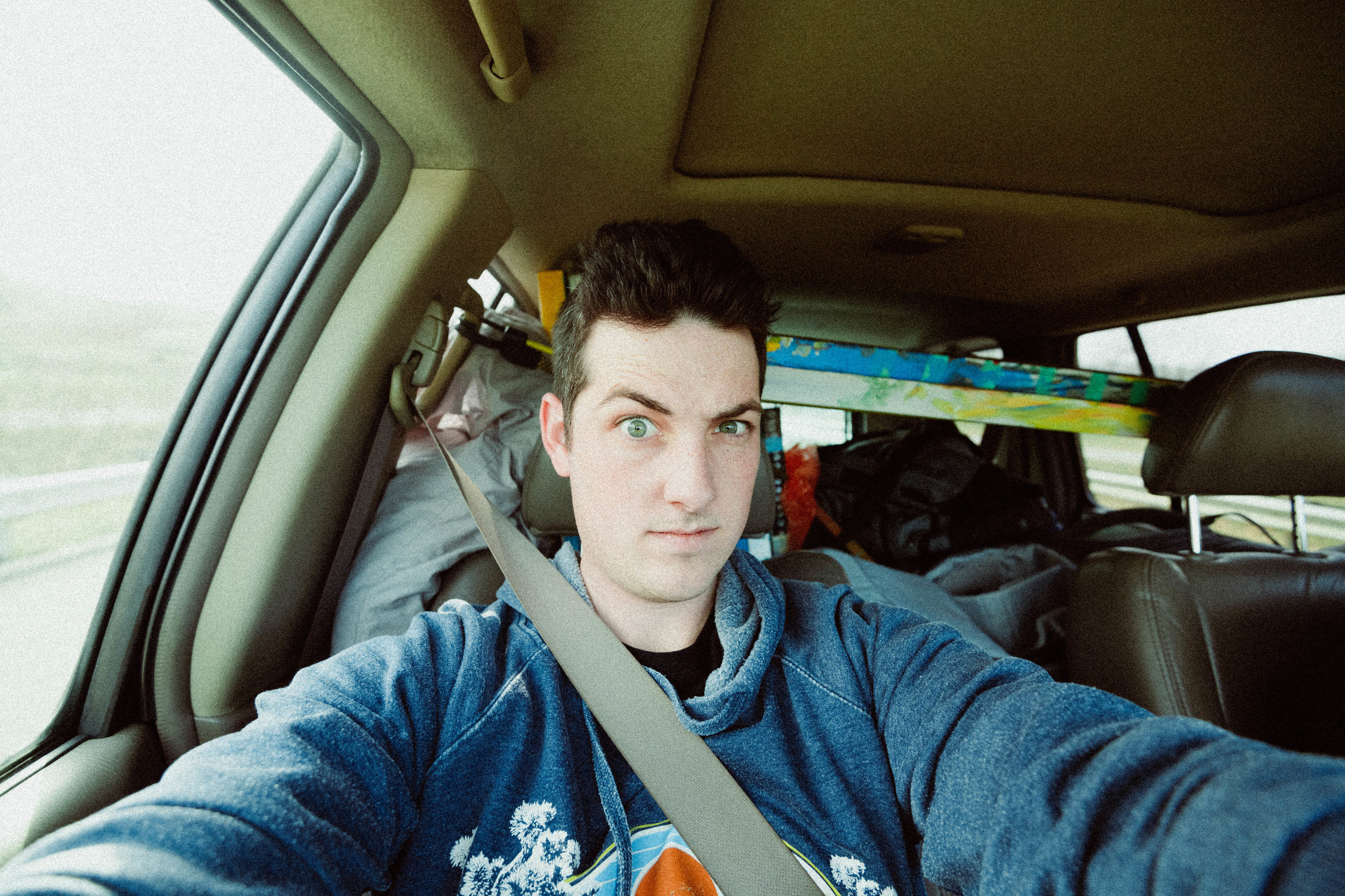 Road Trip Selfie from The Special Delivery Trip