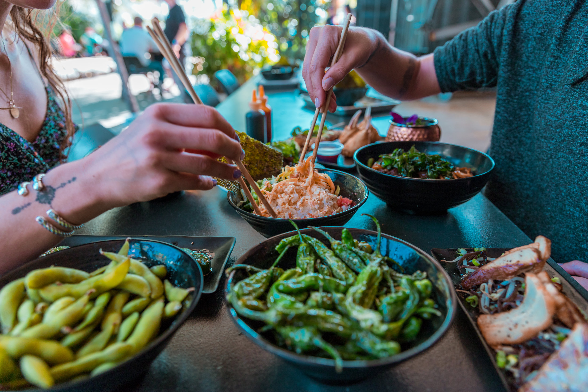 Seven Asian Restaurants to Choose From - 1-800-Lucky is a neighborhood spot offering a wide variety of Asian cuisines, where guests can enjoy many Asian inspired dishes in the heart of Wynwood.
