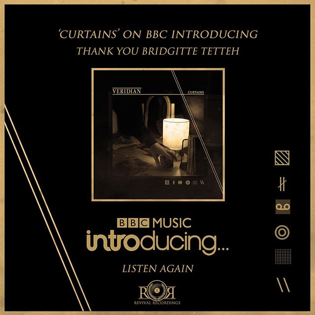 Thank you @bridgittett for playing 'Curtains' on last night's @bbcintroducing Listen again.  https://www.bbc.co.uk/sounds/play/p07gm6bg ▧ ∦ ∞ ◎ ░ \\