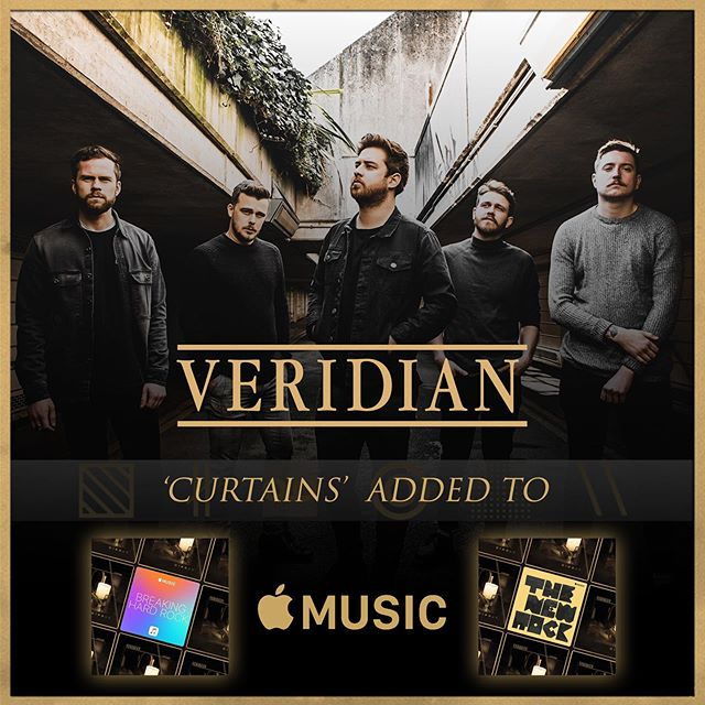 Thank you @applemusic for adding 'Curtains' to The New Rock and Breaking Rock playlists. Explore now. ▧ ∦ ∞ ◎ ░ \\