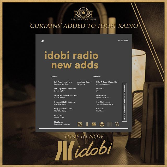 Thank you to @idobiradio for adding 'Curtains' into their rotation. Tune in now. ▧ ∦ ∞ ◎ ░ \\