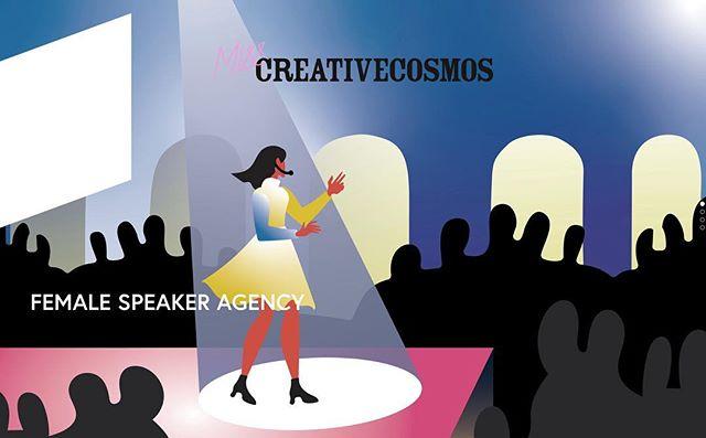 Our new cover illustration by immensely talented power girl @nadinekolodziey  Thank you 🙏  #misscreativecosmos #femalespeakers #femaleentrepreneur #womenintech #womeninart #womeninpolitics #letstalk #femalevoice