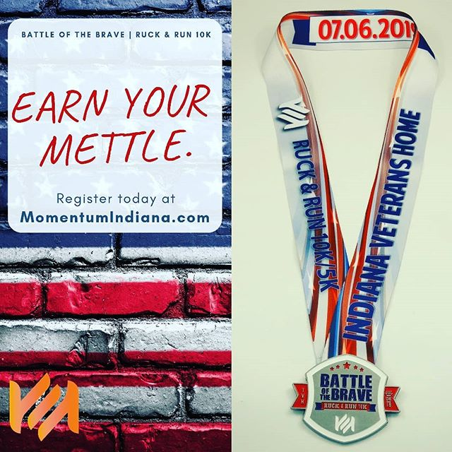 Whether you Ruck the 10K, Run the 10K, or Walk the 5K, you'll earn your medal at the end of the Battle of the Brave | Ruck & Run 10K.  Start your 4th of July weekend off with this Memorable and Meaningful experience, benefiting the veterans of Lafayette's own Indiana Veterans Home.  07.06.2019 - Register today, 🔗 in bio.  #10K #5K #Run #Ruck #Lafayette #LafayetteIN # #fitness #mettle #medal #4thofjuly #july #race #raceday #rucking #goruck #veterans #veteran #army #navy #nationalguard #indiana #momentum #meaningful #memorable #redwhiteblue #america #event #walk