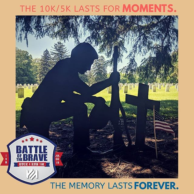 "In less than a month, you'll be Rucking, Running, or Walking across the grounds of the Indiana Veterans Home in West Lafayette. You'll start your endeavor to the sounds of a 21 Gun Salute, you'll endure hills and valleys along the way, and you'll take a moment of silence through the hollowed grounds of the Veteran Cemetery. Active Military and Veterans, everyone from Marines to the Army, the Guard and the Navy will surround you to cheer you on and push you to the finish.  And through all this, one thought will keep you moving forward...""this too shall pass."" What won't pass, what will remain with you forever, is the memory of this Meaningful experience.  The Battle of the Brave 