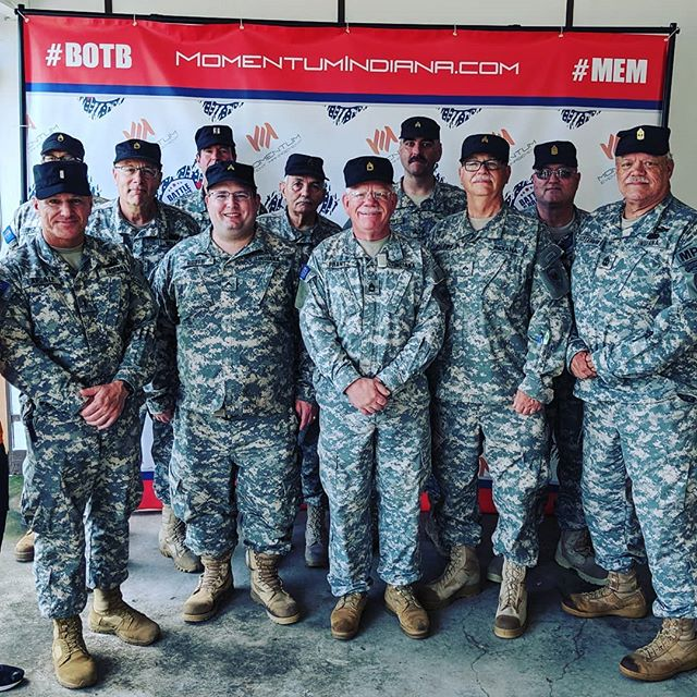 For their service, for their sacrifice. We thank you.  A special thanks to the Indiana Guard Reserve for their time and service today at Battle of the Brave! #MEM #BotB #Meaningful #Engaging #Memorable