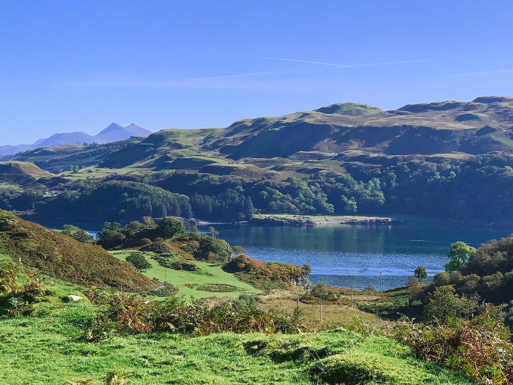 A view from Kerrera. That's the peaks of Ben Cruachan towering in the background. It.Is.Beautiful.