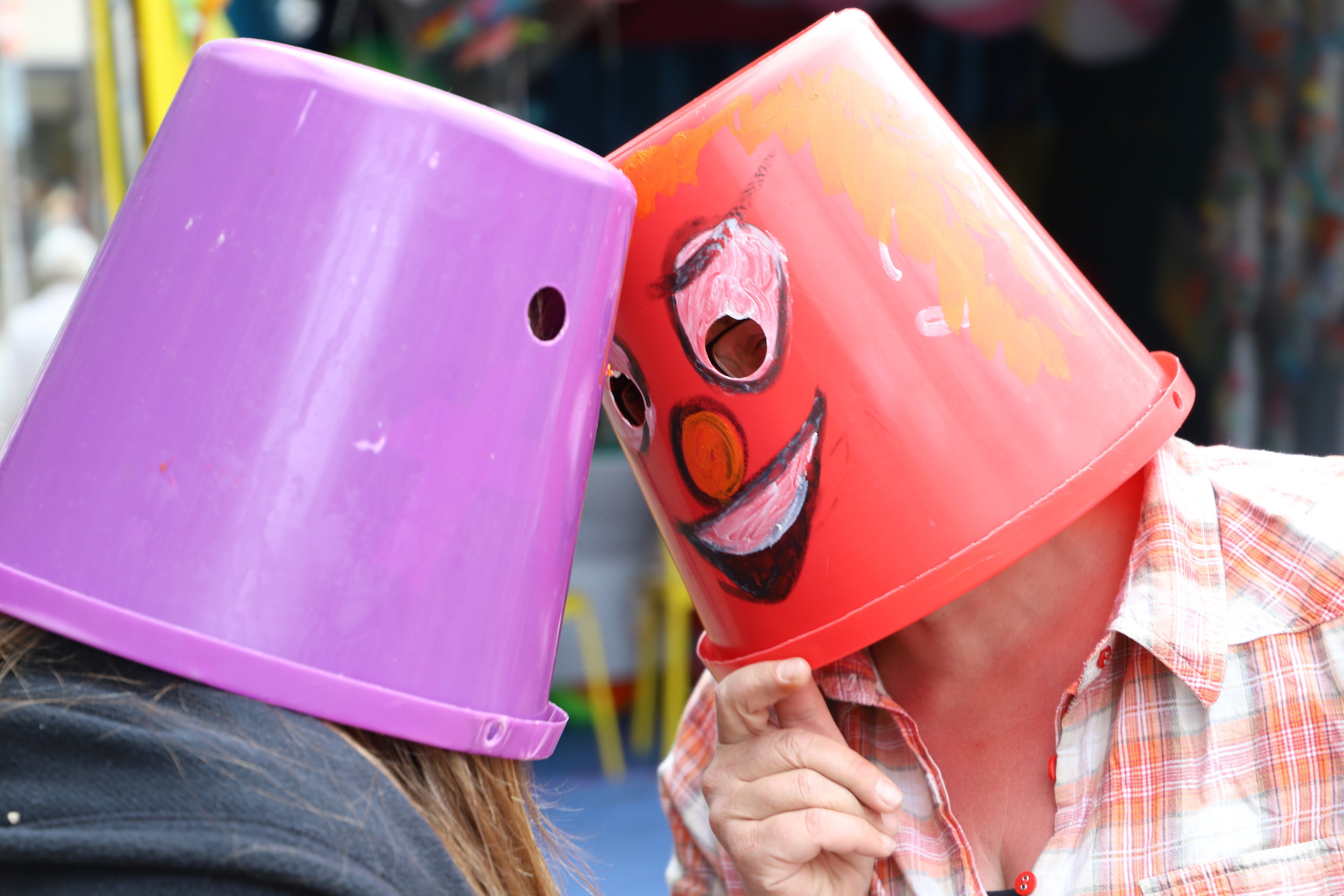 Playful Bucket heads
