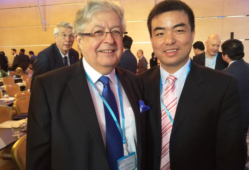 With the Swiss Ambassador to China at a Sino-Swiss event in Zurich