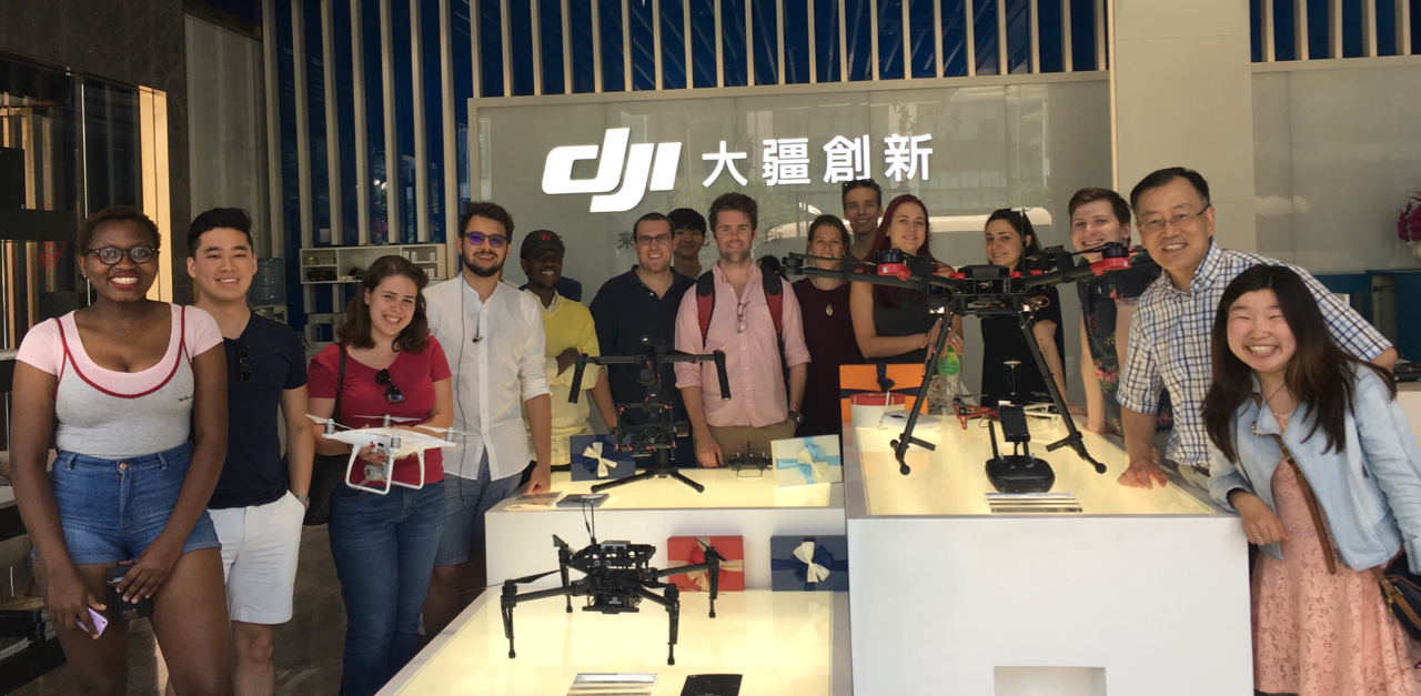 Visiting DJI corporation in Shenzhen with the students of the Yenching Academy of Peking University