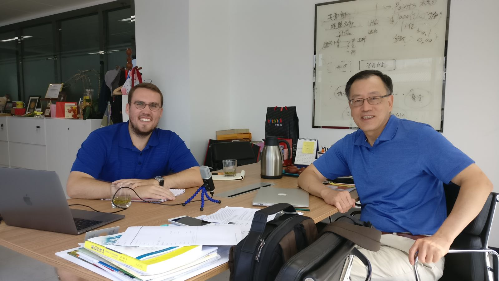 Recording the Voices of the Belt and Road Podcast