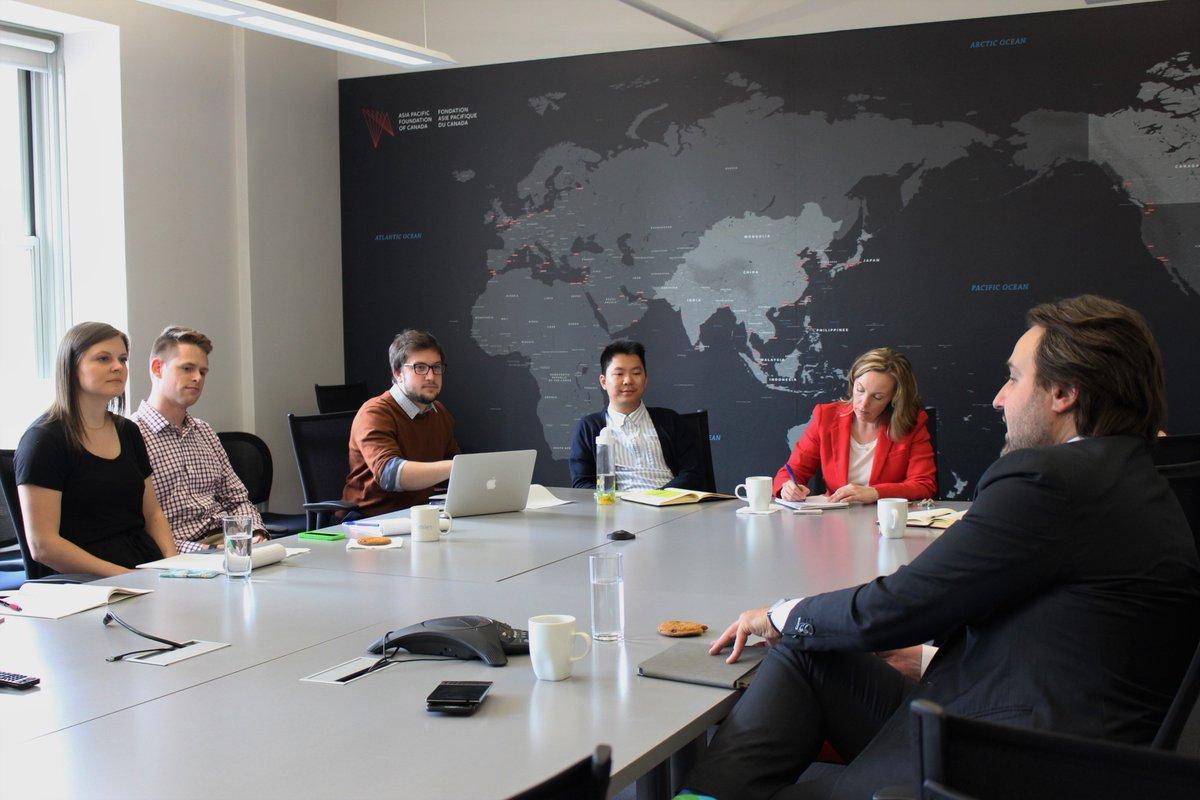 A roundtable at APF Headquarters with Lee Kane, Canadian Senior Trade Commissioner in Beijing