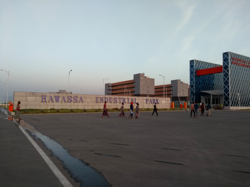 Hawassa Industrial Park, built by Chinese contractors, is already attracting global manufacturing firms. Source: Author's photograph