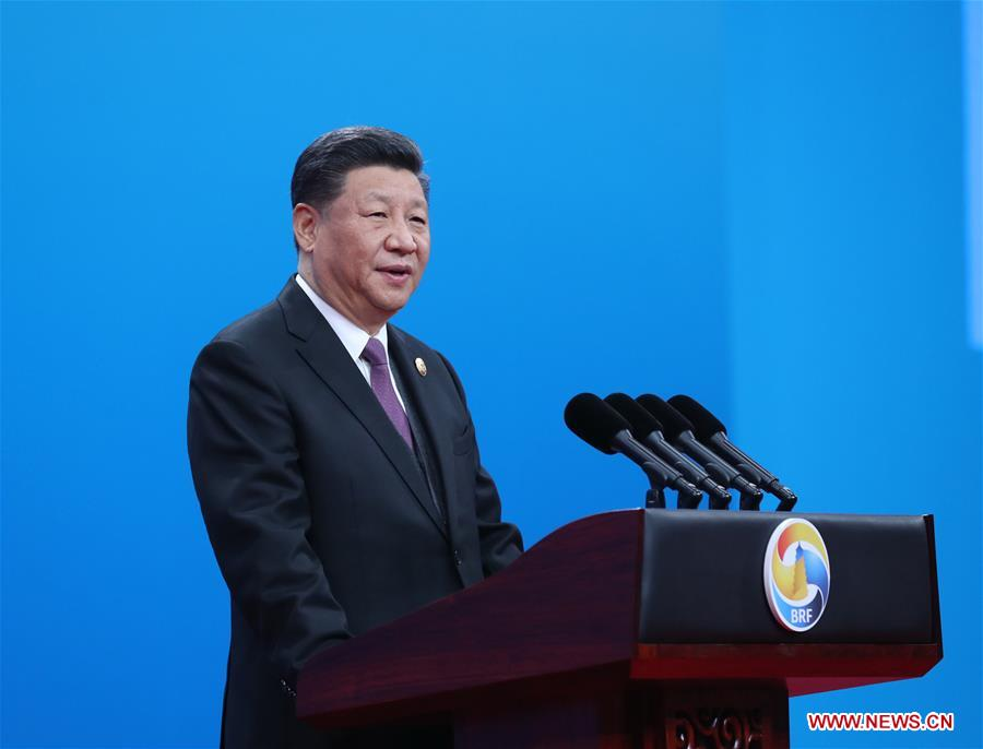 Xi speaking at the BRF 2019 in Beijing