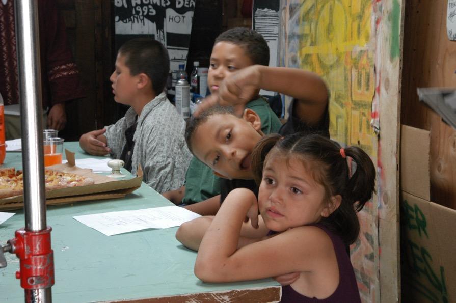 Figure 7: Neighborhood kids (L-R, played by Erik Johns, Christian Simmons, William Simmons and Samantha Johns)