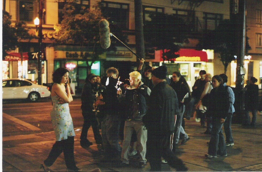 Figure 5: Filming Mission Movie on the corner of 16th and Mission St.