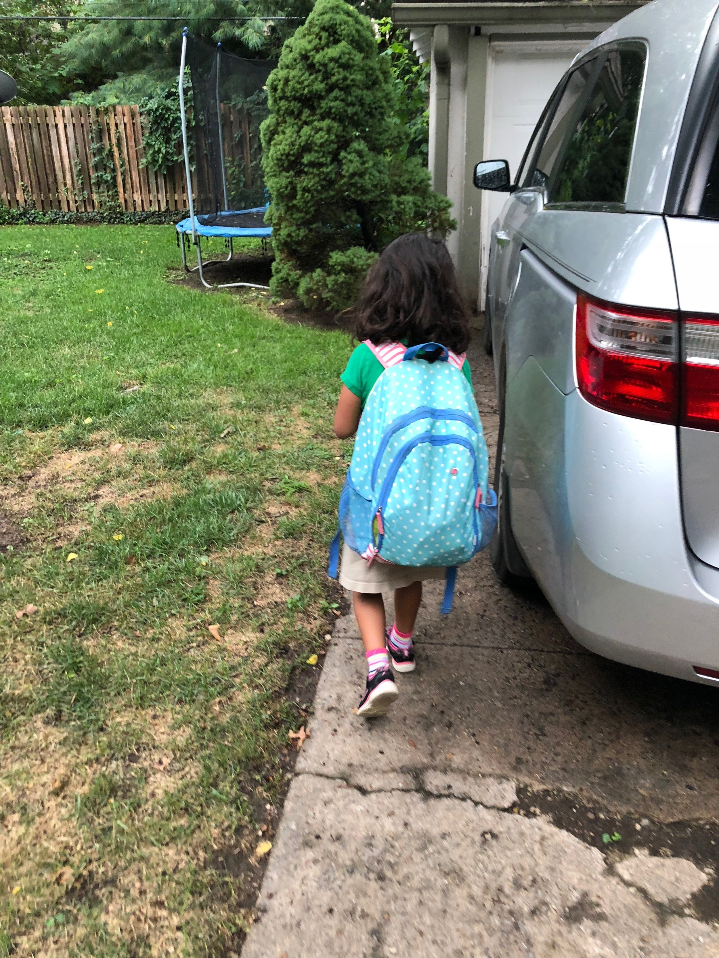 little Clara; big backpack