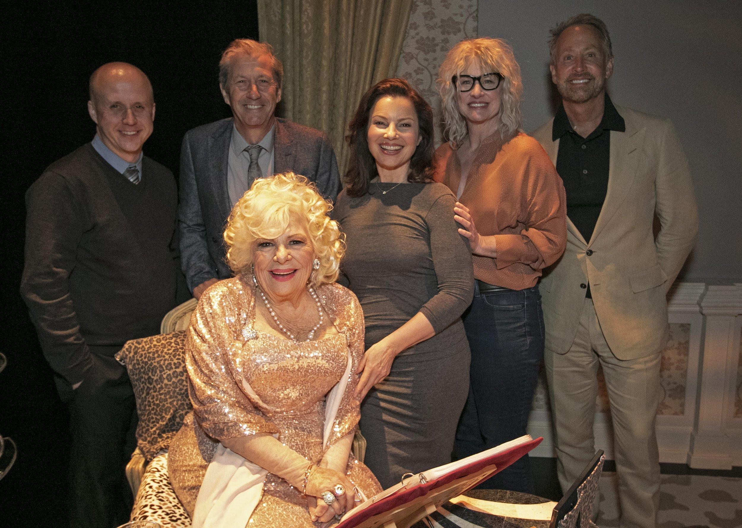 Benjamin Salisbury, Charles Shaughnessy, Renée  Taylor, Fran Drescher, Lauren Lane, and  Peter Marc Jacobson.