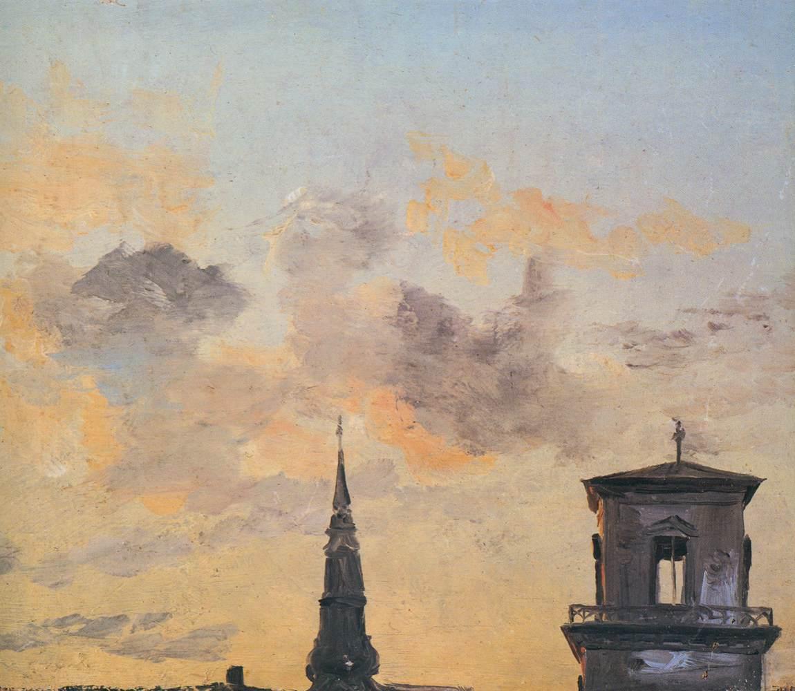 Johan_Christian_Claussen_Dahl_-_Two_Belfries_at_Sunset,_Copenhagen_-_WGA05879.jpg