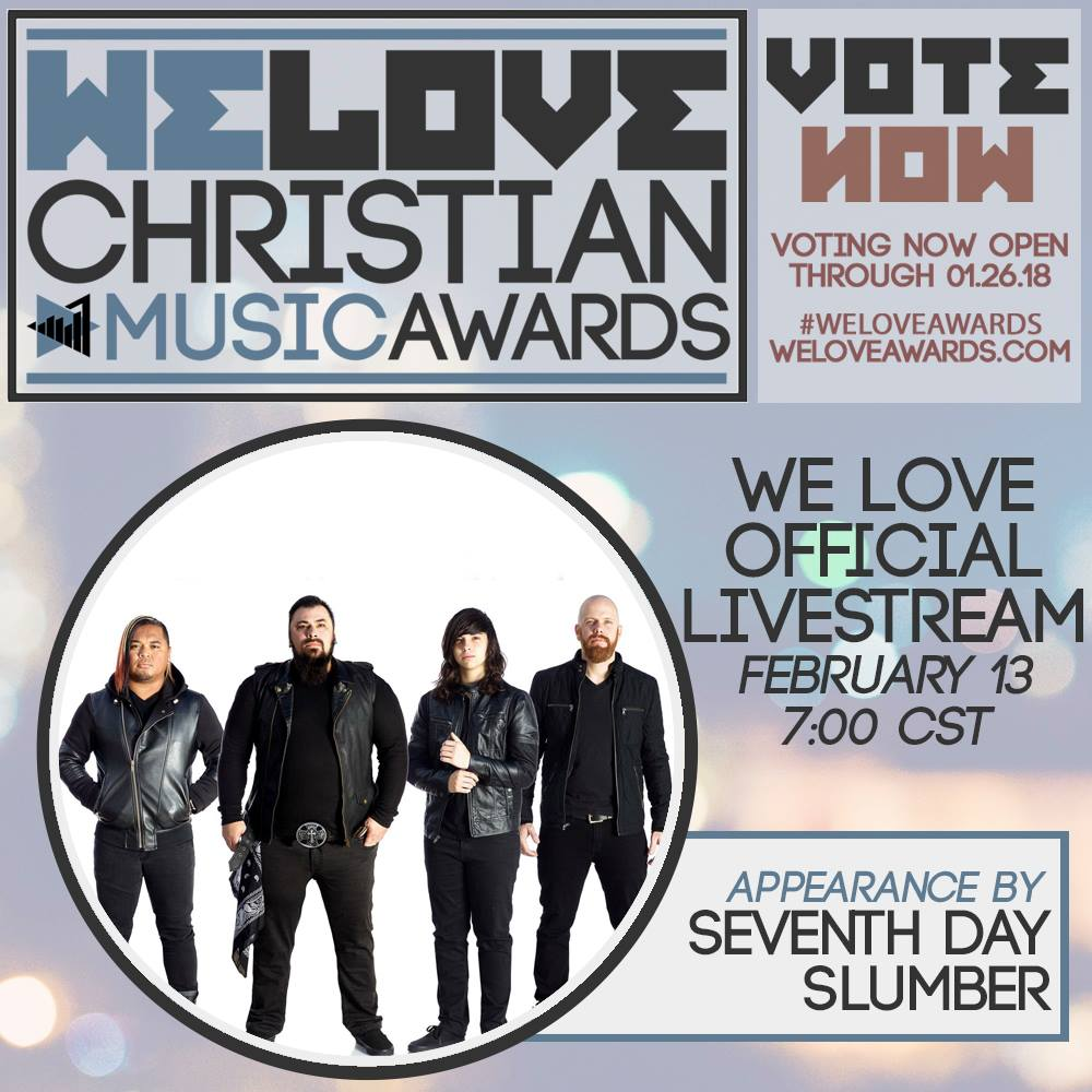 6th Annual We Love Christian Music Awards social media promo imaging
