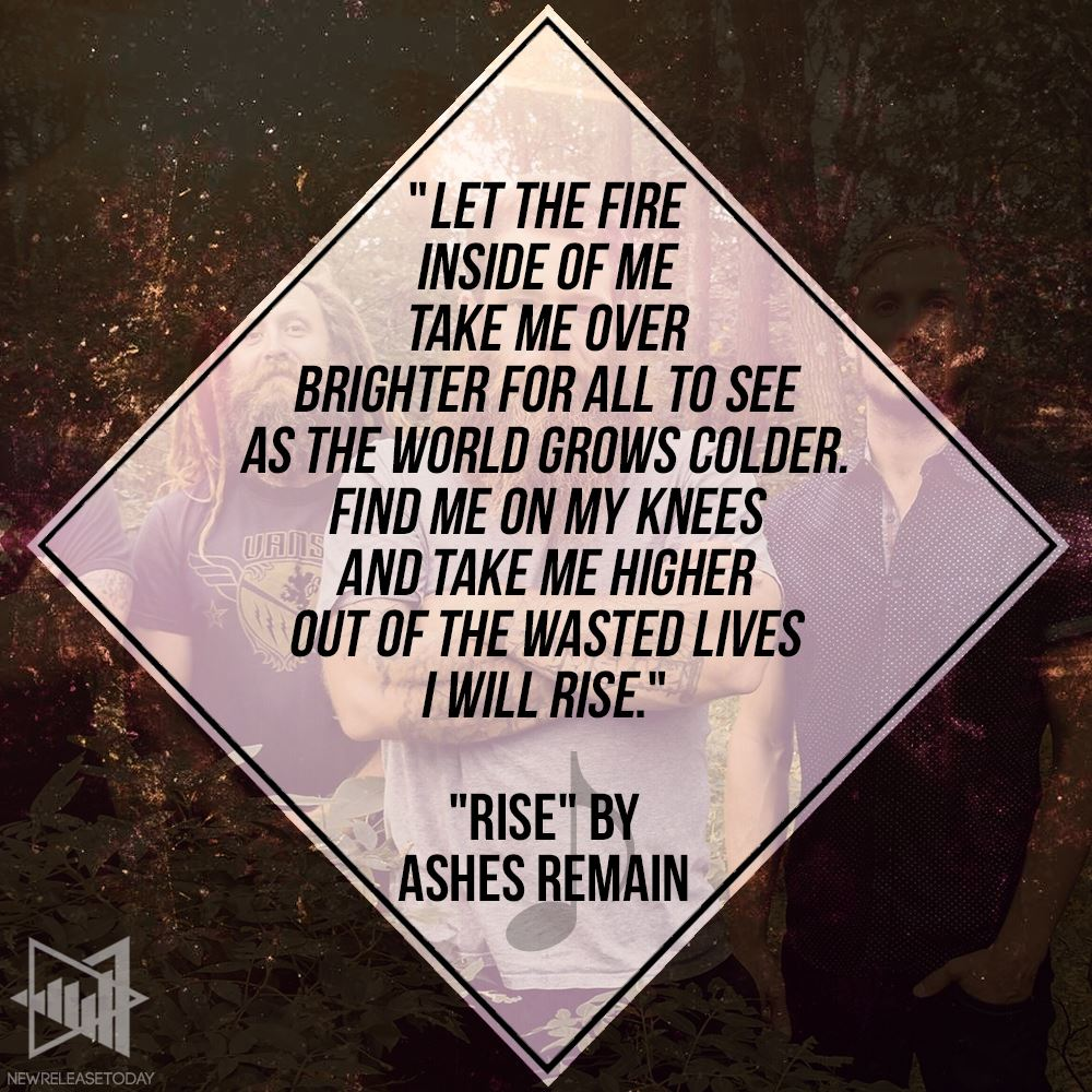 Lyric image for the band Ashes Remain