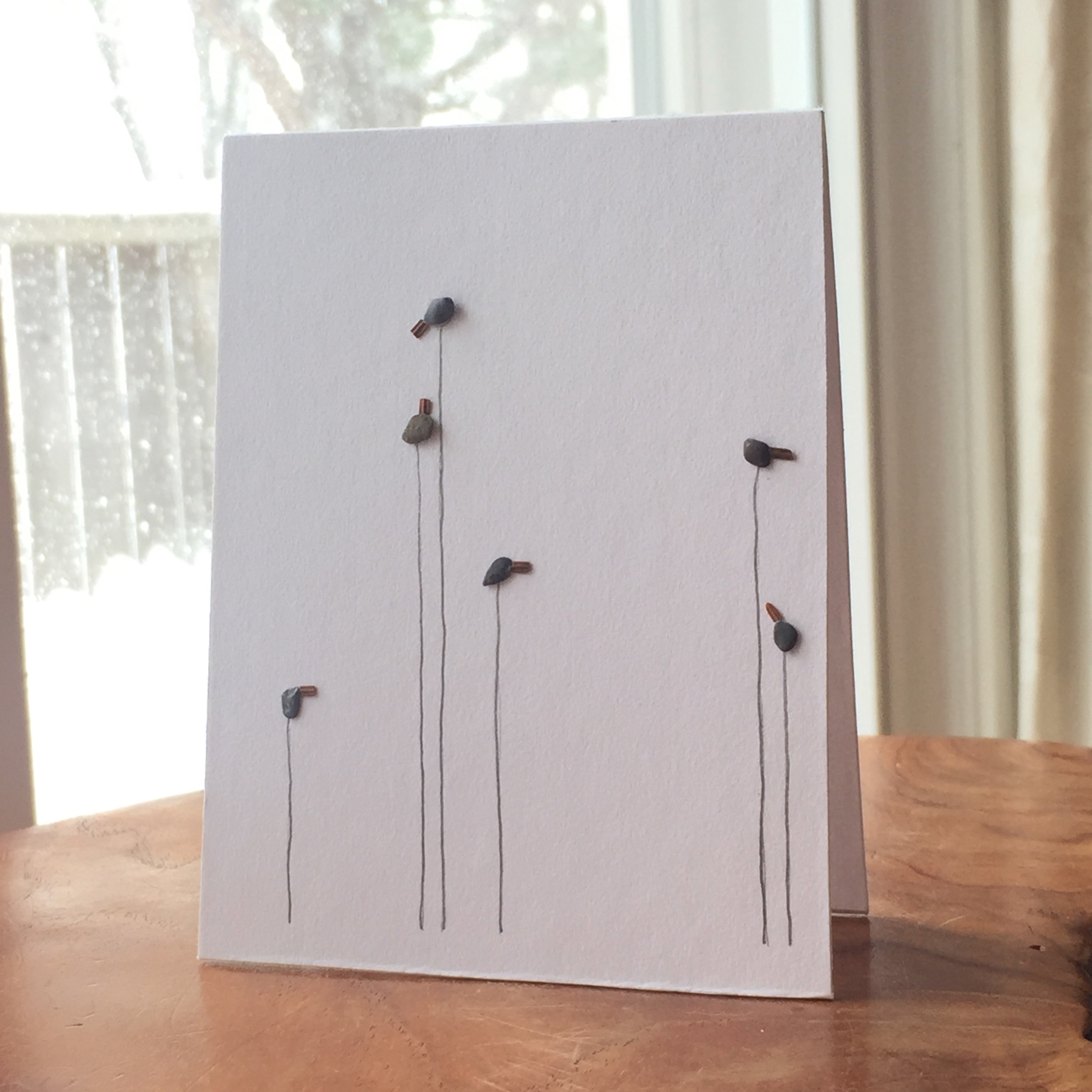 Pebble Art Cards! Tenderly made by artist Niki Heddle