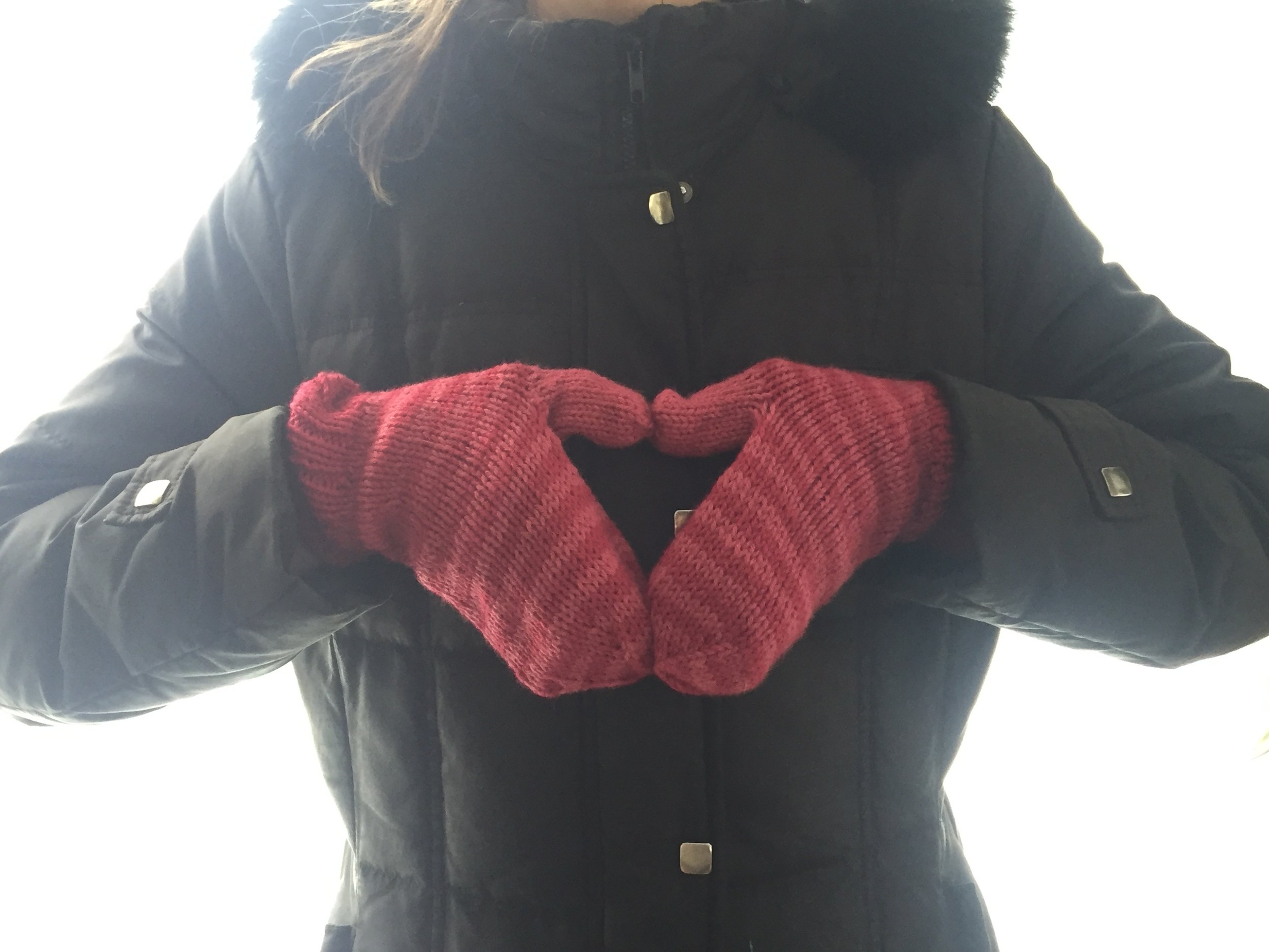 These perfect mitts!! By the multi-talented artist Kelly Casely.