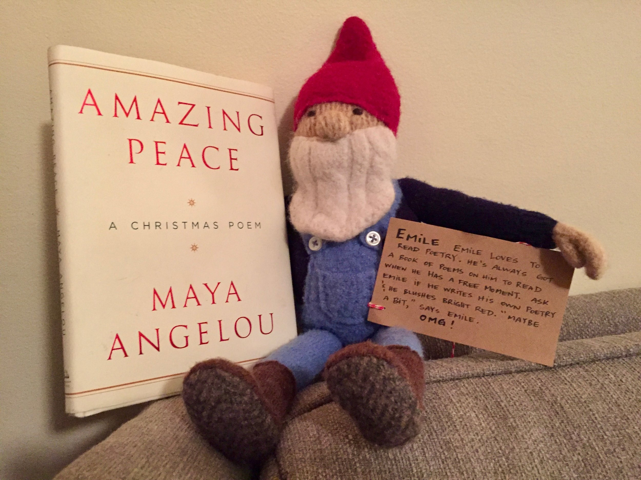 OMG! We LOVE our gnome! Handmade by the divine Erin Bateman with individual bio written by Dave Atkinson