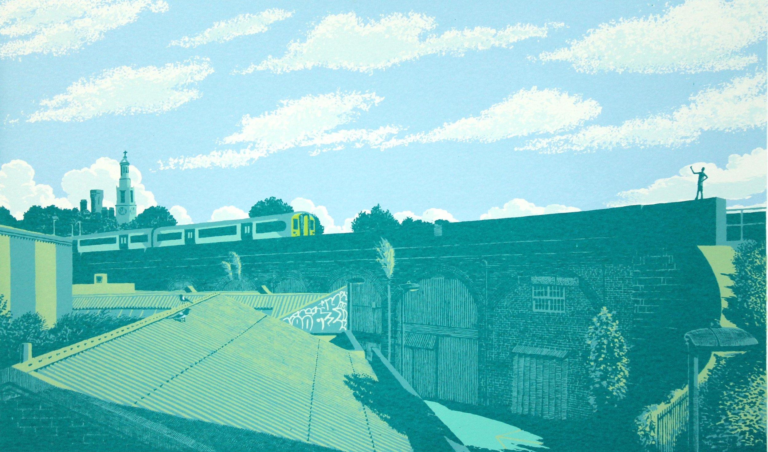 West Norwood Skyline (blue)